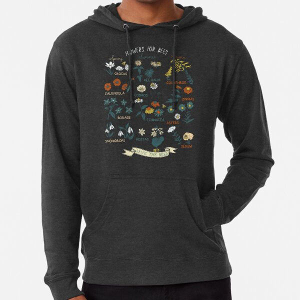 Flowers For Bees (Color) Lightweight Hoodie