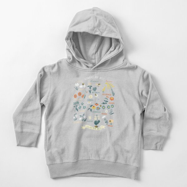 Flowers For Bees (Color) Toddler Pullover Hoodie
