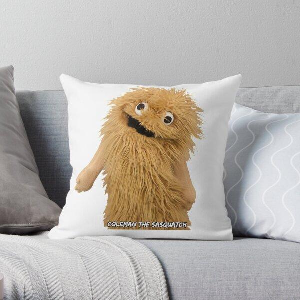 Wump Mucket Puppets Coleman the Sasquatch Throw Pillow