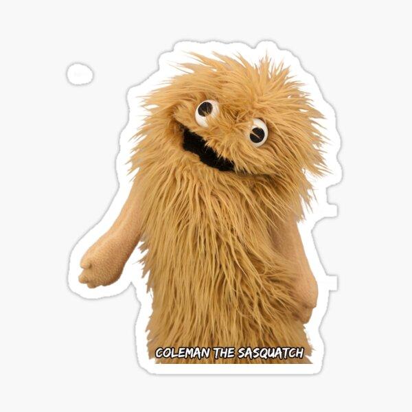 Wump Mucket Puppets Coleman the Sasquatch Sticker