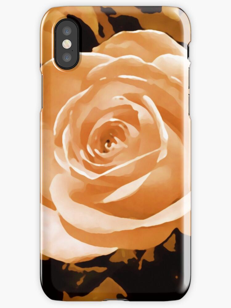 Orange rose flowerhead i phone and i pod case by jenny meehan