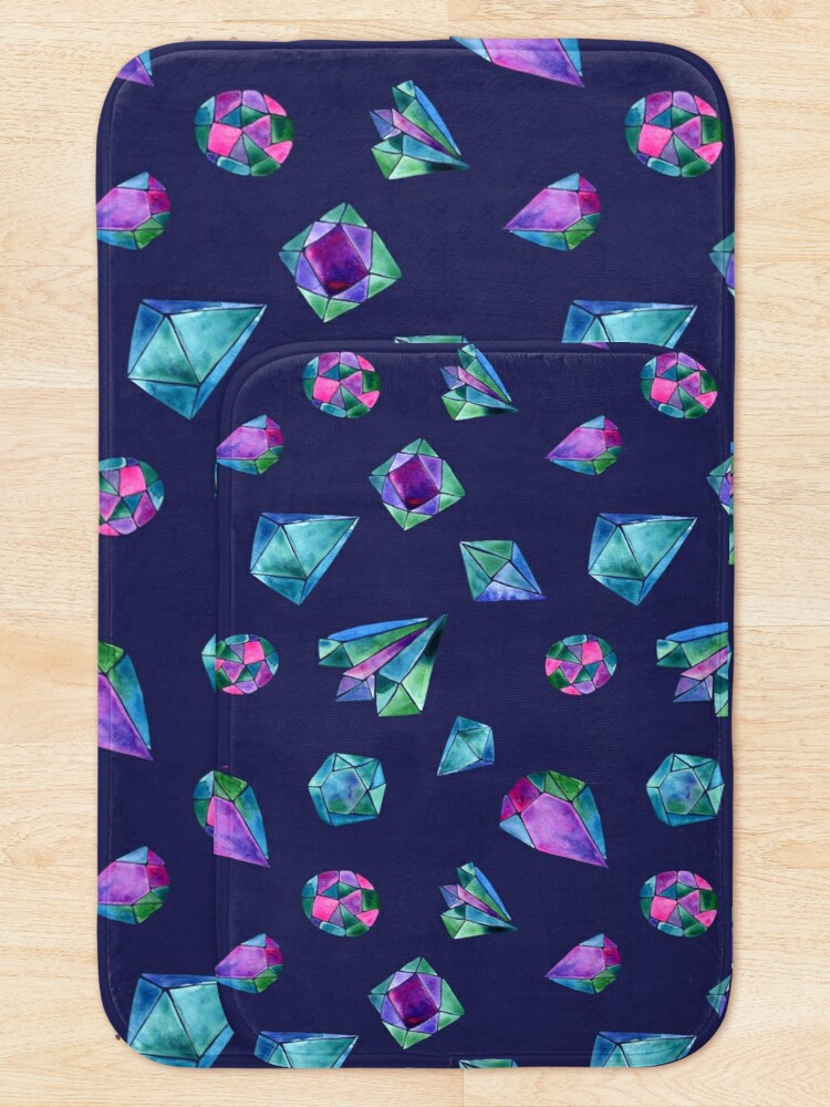 Alternate view of You Are a Gem Watercolor Purple Bath Mat