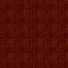 Hollow Gold Squares on Dark Red by pjwuebker