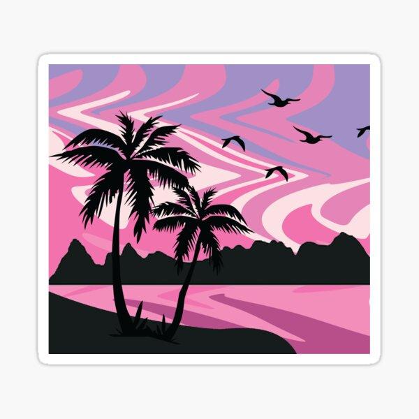 Pink Sky Silhouette Sticker