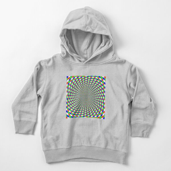 Colorful vortex spiral - hypnotic CMYK background, optical illusion Toddler Pullover Hoodie