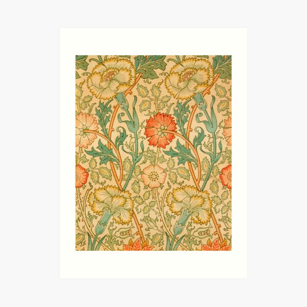 Pink and Rose by William Morris, 1890 Art Print