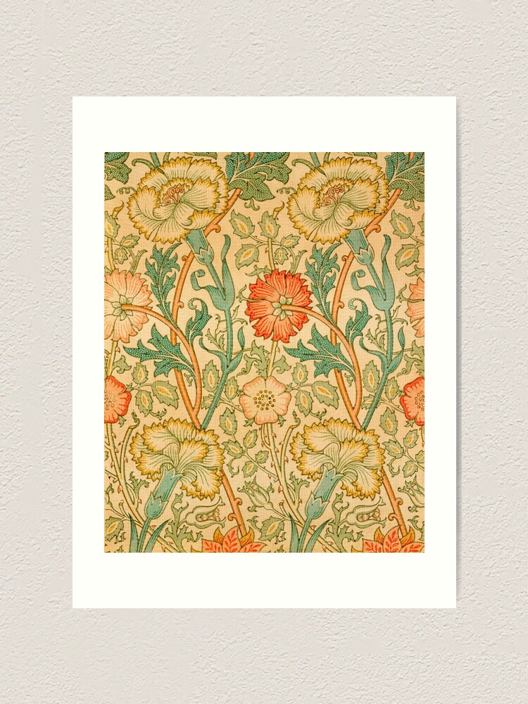 Alternate view of Pink and Rose by William Morris, 1890 Art Print
