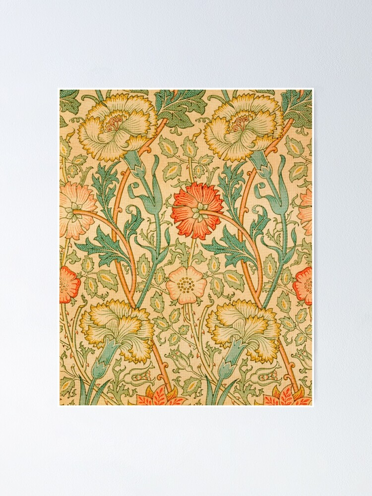 Alternate view of Pink and Rose by William Morris, 1890 Poster