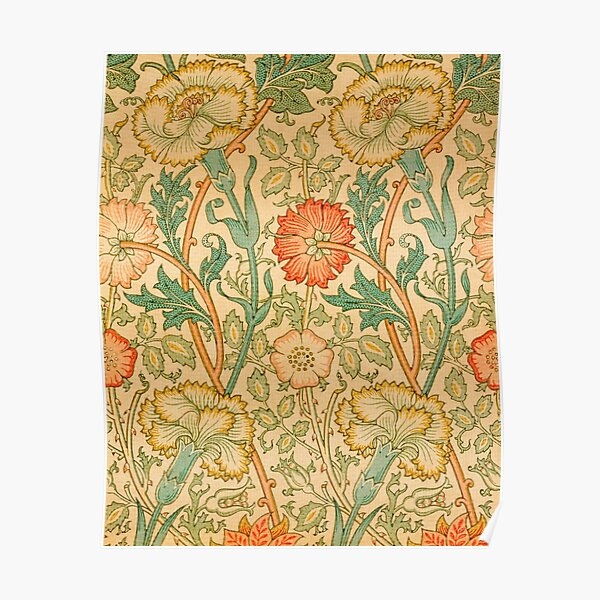 Pink and Rose by William Morris, 1890 Poster