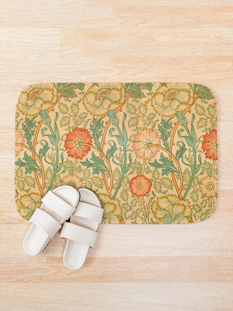 Alternate view of Pink and Rose by William Morris, 1890 Bath Mat