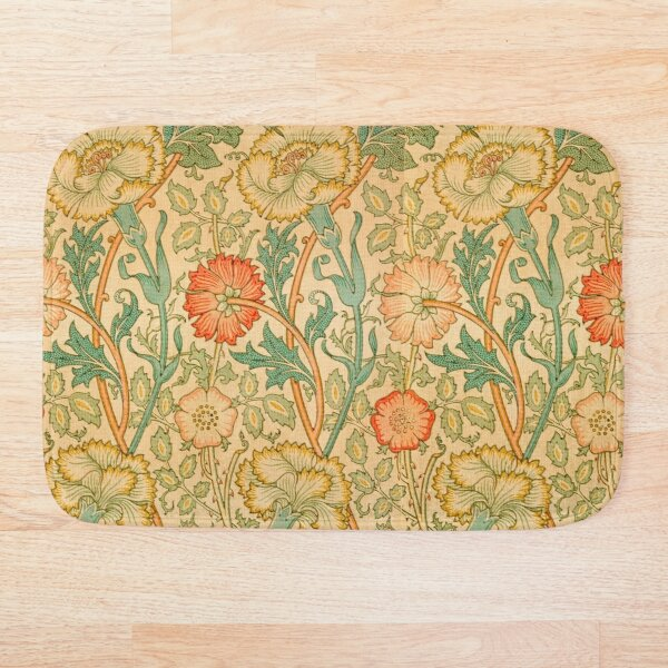 Pink and Rose by William Morris, 1890 Bath Mat