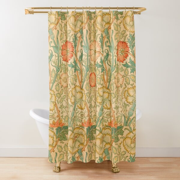 Pink and Rose by William Morris, 1890 Shower Curtain