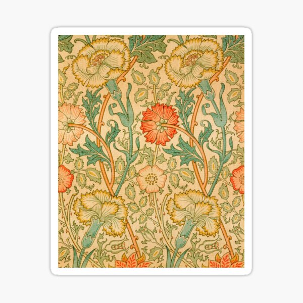 Pink and Rose by William Morris, 1890 Sticker