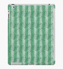 Grungy Fat Green Stripes iPad Case/Skin