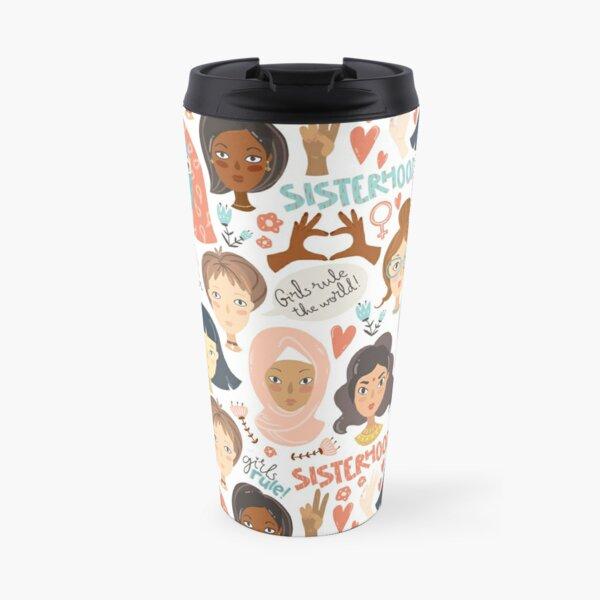 Feminist pattern of sisterhood Travel Mug