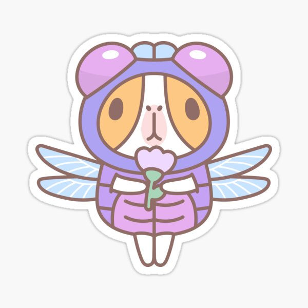 Guinea Pig in Dragonfly Costume  Sticker