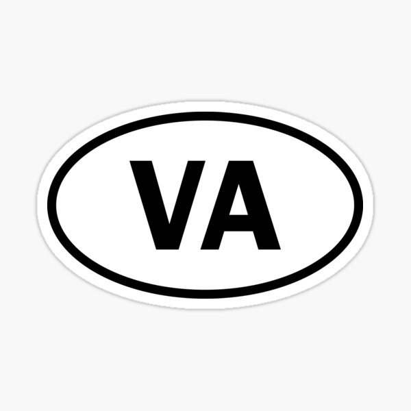 Virginia - VA - oval sticker and more Sticker
