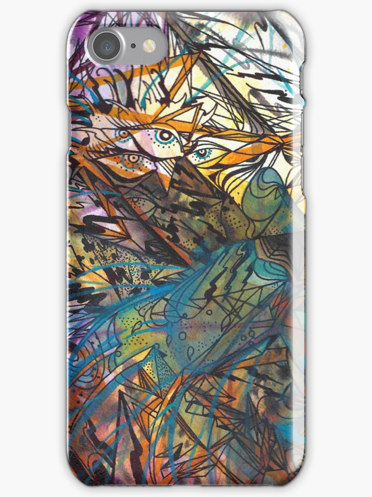 Hidden Tiger Iphone case by Jp87cents
