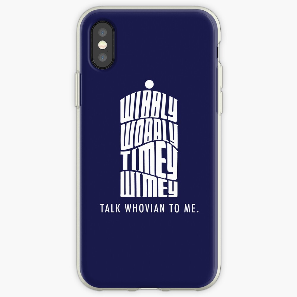 Talk Whovian To Me iPhone-Hüllen & Cover