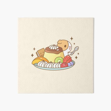 Guinea pig with Japanese Pudding  Art Board Print