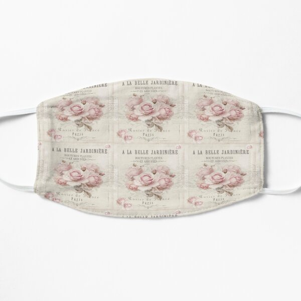french shabby chic Flat Mask