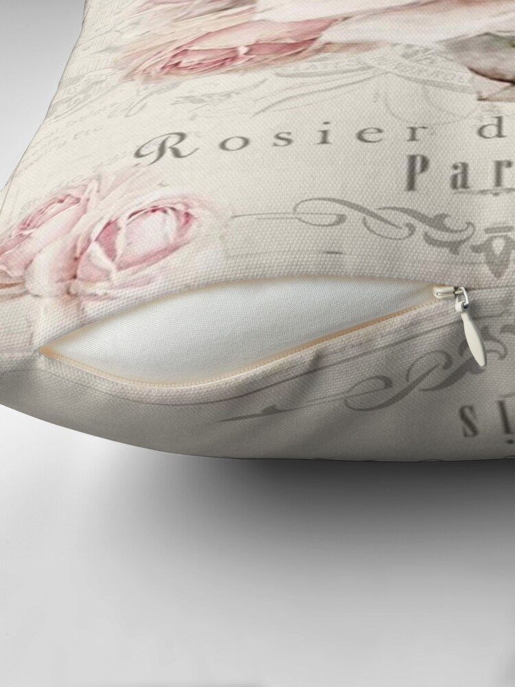Alternate view of french shabby chic Throw Pillow