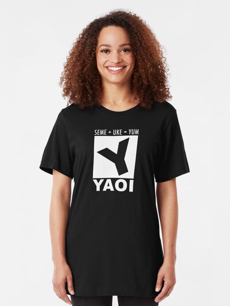Alternate view of Yaoi rating Slim Fit T-Shirt