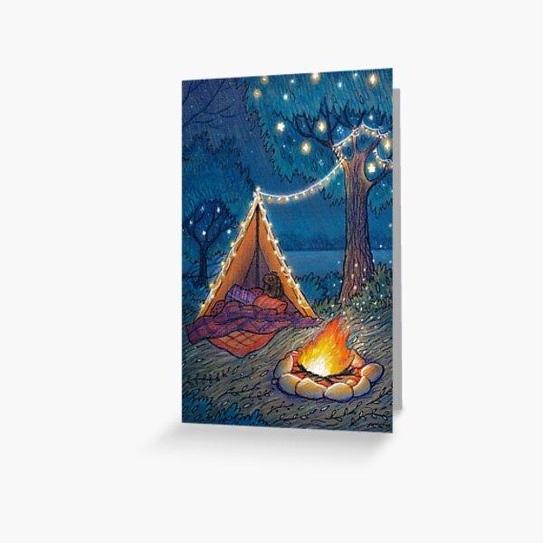 Summer campfire Greeting Card