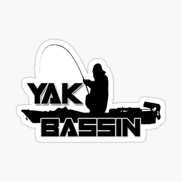 Kayak Bass Fishing Sticker Sticker