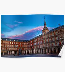 Spain. Madrid. Plaza Mayor. Poster