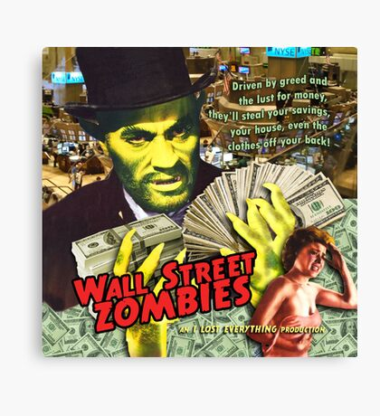 Wall Street Zombies Canvas Print