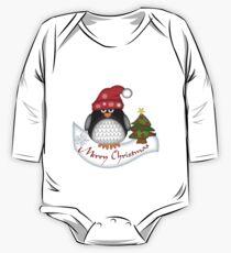 Cute Christmas Penguin One Piece - Long Sleeve