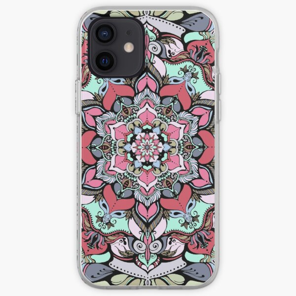 Flowers mandala #38 iPhone Soft Case