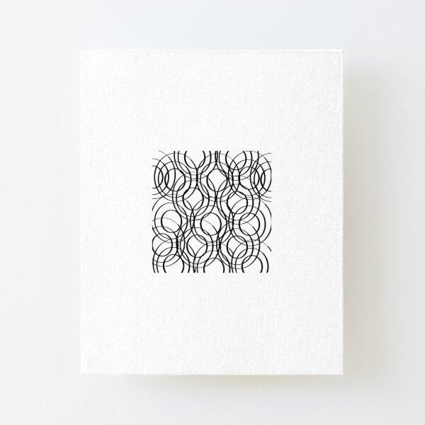 Circles Canvas Mounted Print