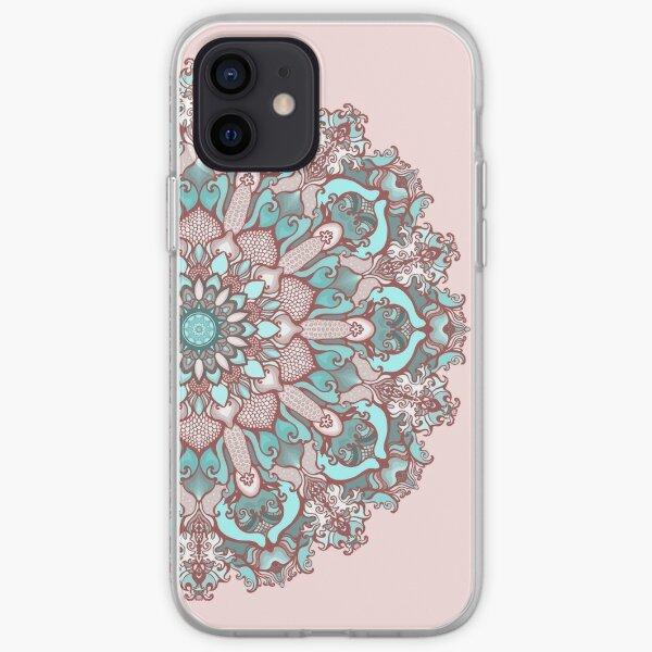 mandala#31 on pink background iPhone Soft Case