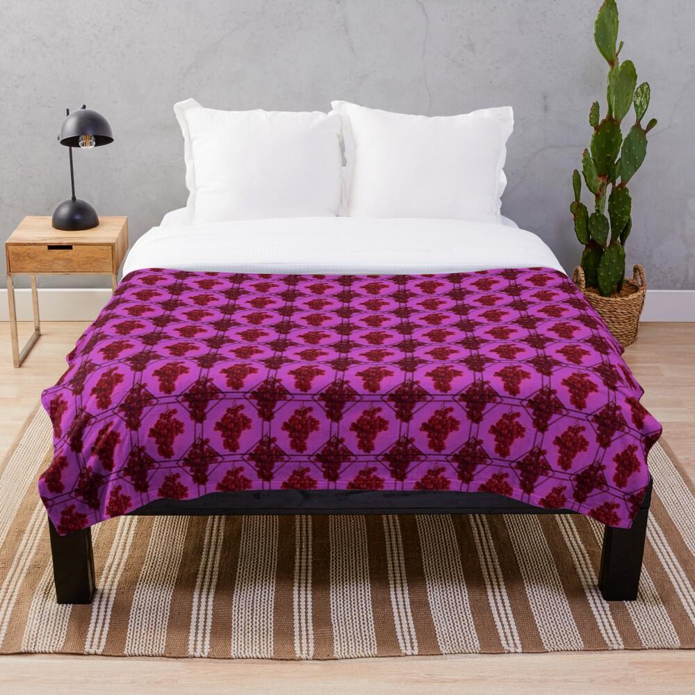 Grape | Fruit Pattern Throw Blanket