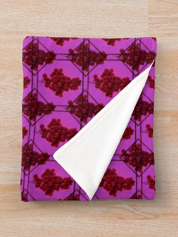 Alternate view of Grape | Fruit Pattern Throw Blanket