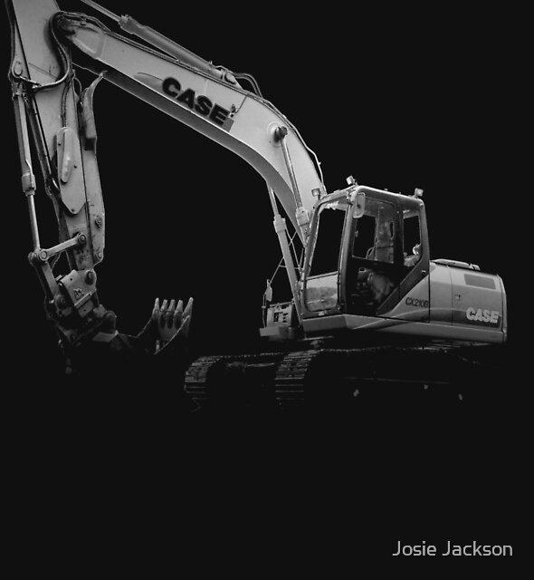 Excavator T-Shirt by Josie Jackson