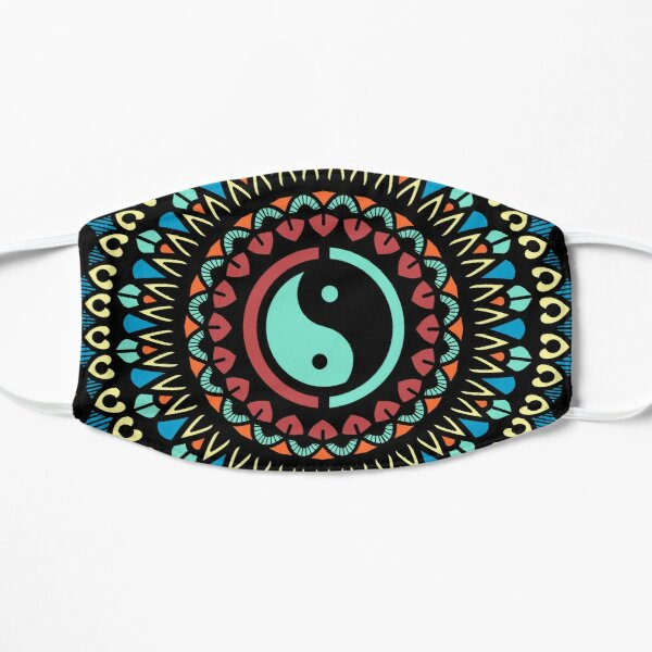 Mandala With Ying Yang symbol Flat Mask