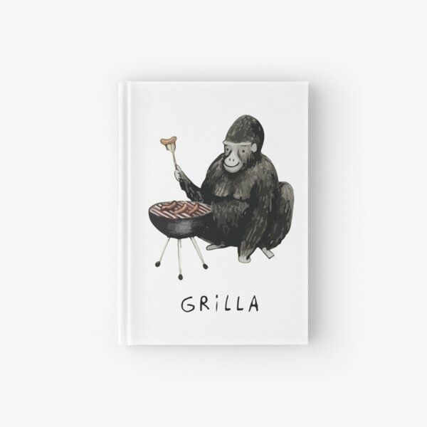 Gorilla barbeque time funny graphic shirt  Hardcover Journal