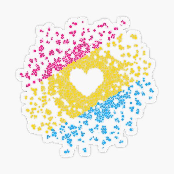 Pan Heart Transparent Sticker