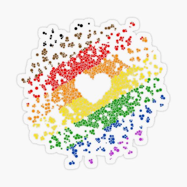 POC Pride Heart Transparent Sticker