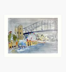 Luna Park from Lavendar Bay Art Print