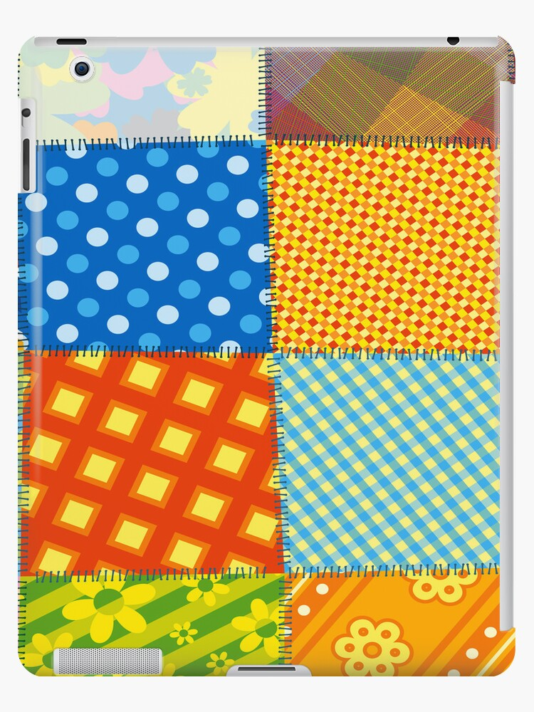 Colorful Retro Sewed Stitching Pattern iPad Case / iPhone 5 / iPhone 4 Case / Samsung Galaxy Cases  by CroDesign