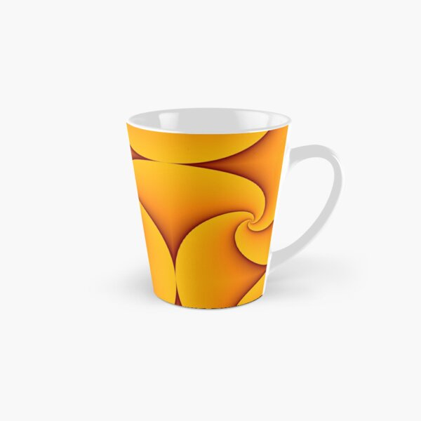 Curves of Pursuit in Yellow Tall Mug