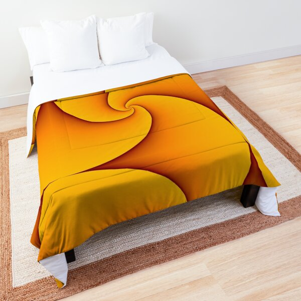 Curves of Pursuit in Yellow Comforter