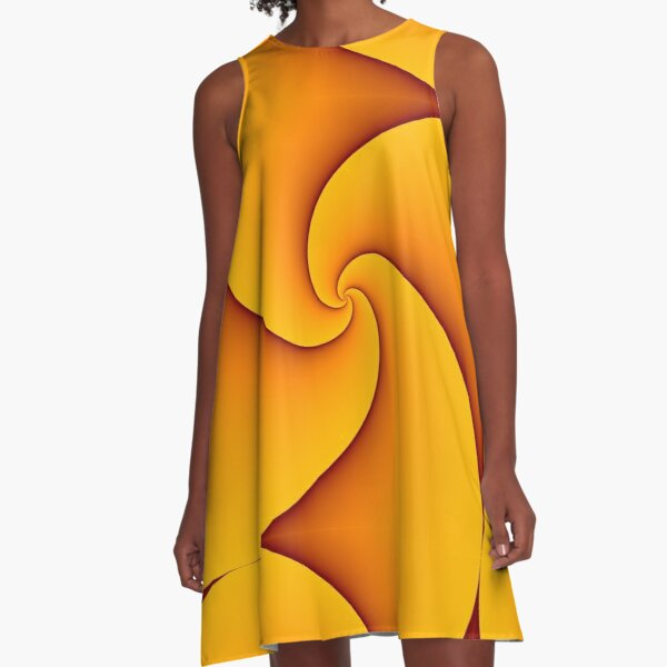 Curves of Pursuit in Yellow A-Line Dress