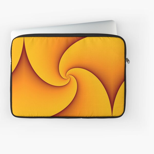 Curves of Pursuit in Yellow Laptop Sleeve