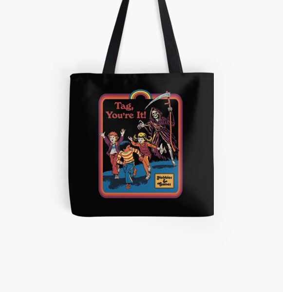 Tag, You're It All Over Print Tote Bag
