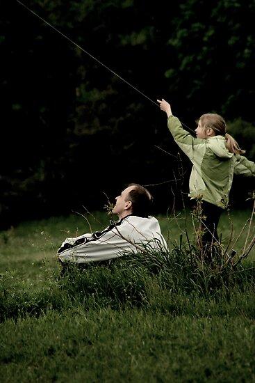 flying a kite by Nikolay Semyonov